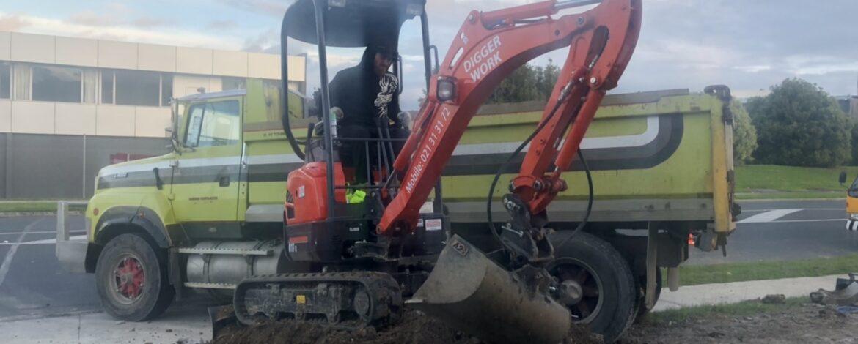 skilled digger oprator