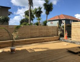 new fence and decking at oraki