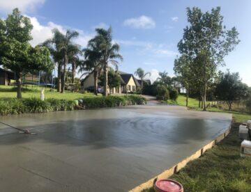 50meter driveway at farm