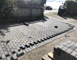 paver driveway at glenfild