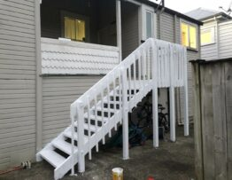 new outdoor stair Builded